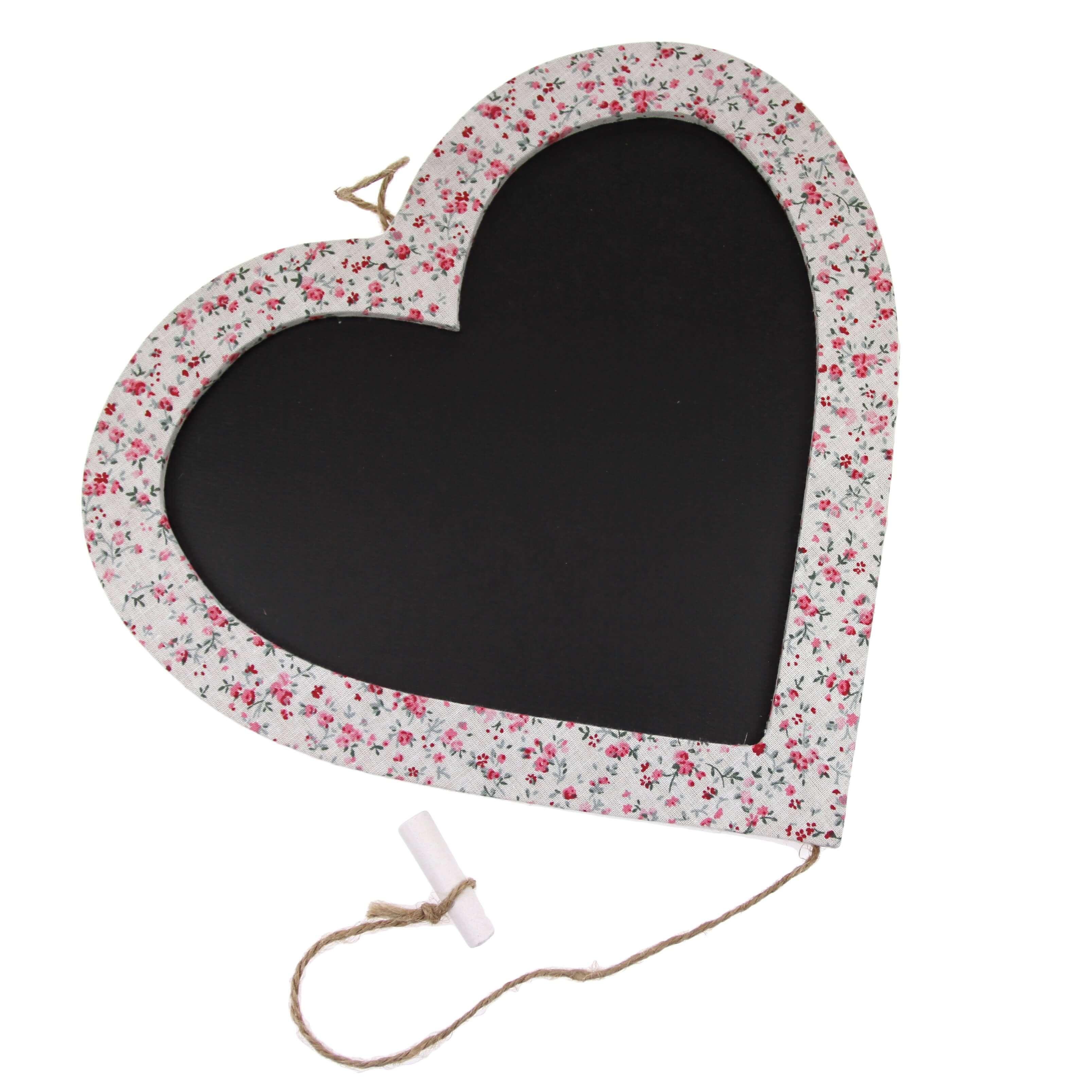 Floral Heart Chalk Board