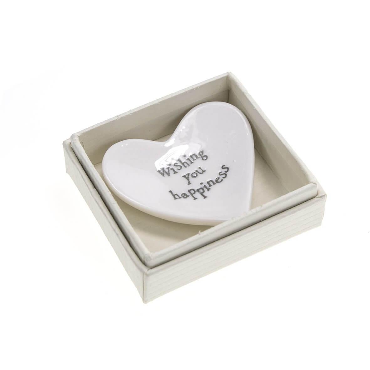 Boxed Mini Heart Wishing You Happiness