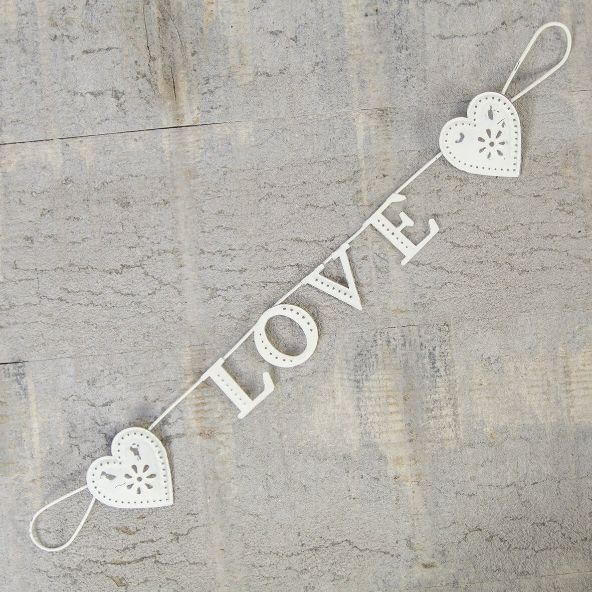 Vintage Metal Heart Garland - Love
