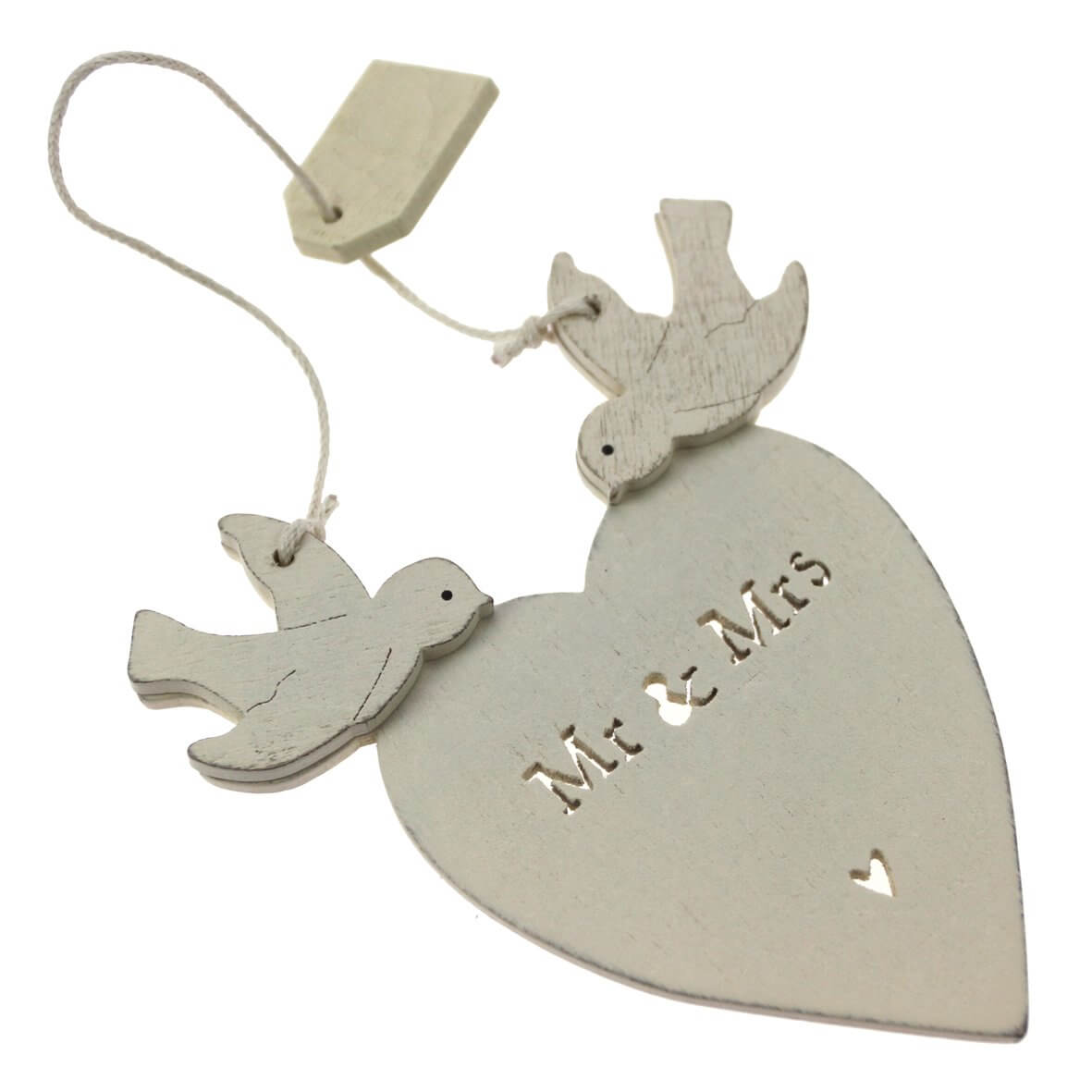 'Mr & Mrs' Heart with Doves