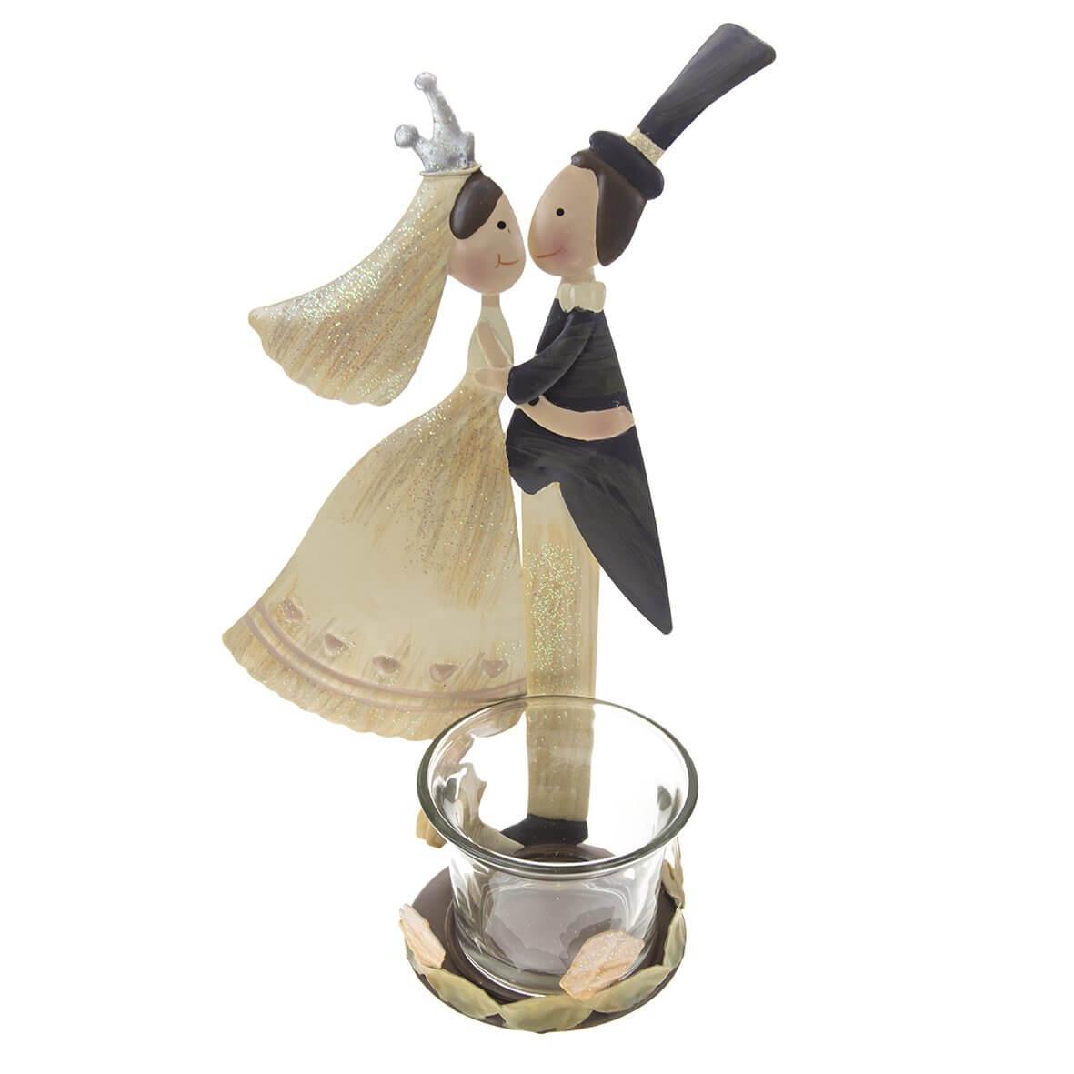 Bride and Groom Tea Light Holder