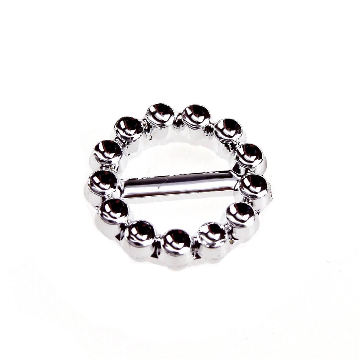 Circle Faux Diamante Buckle (20mm)