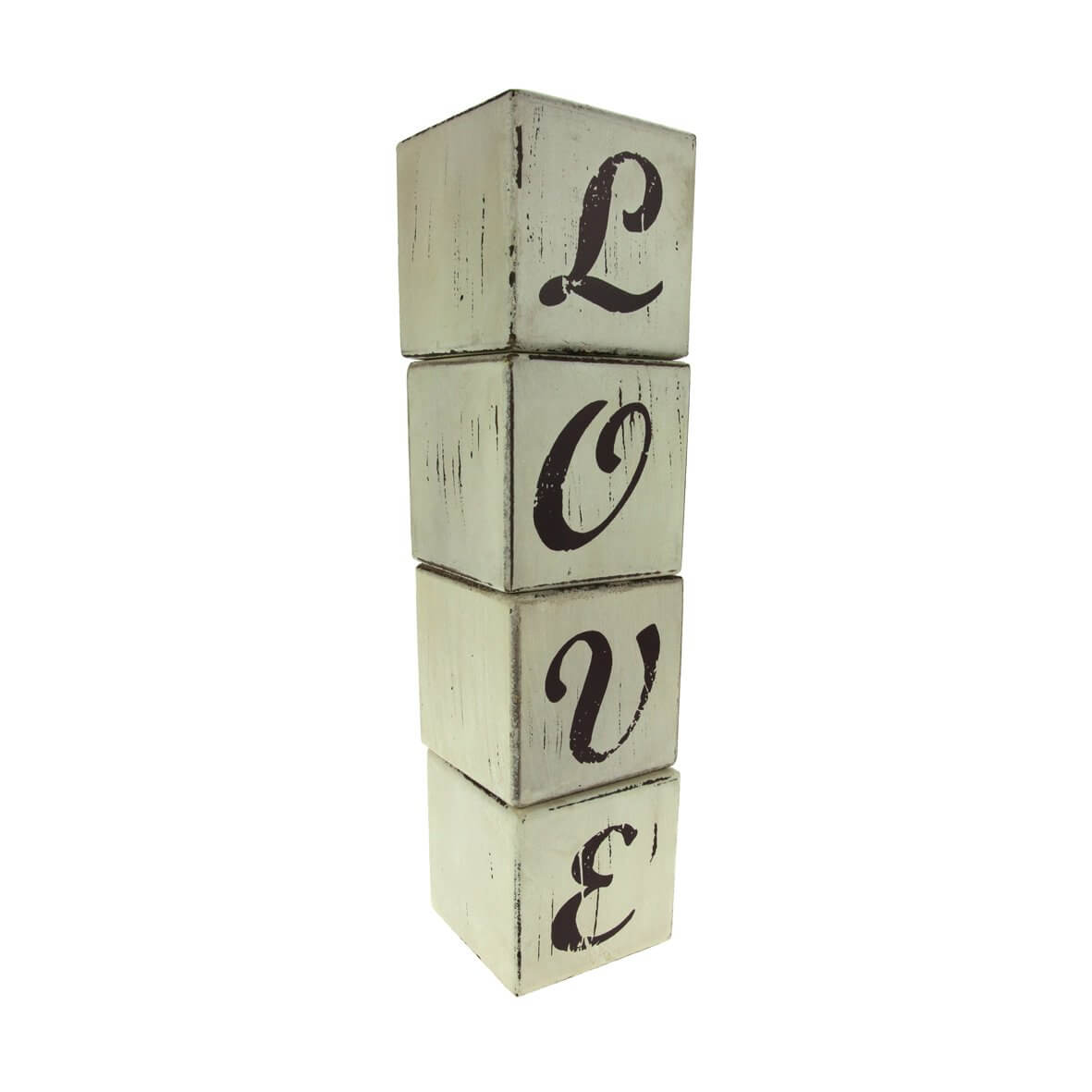 'Love' Building Block Word - Stacked
