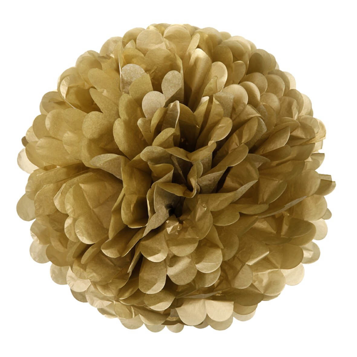 Gold Pom Poms (Pack of 3)