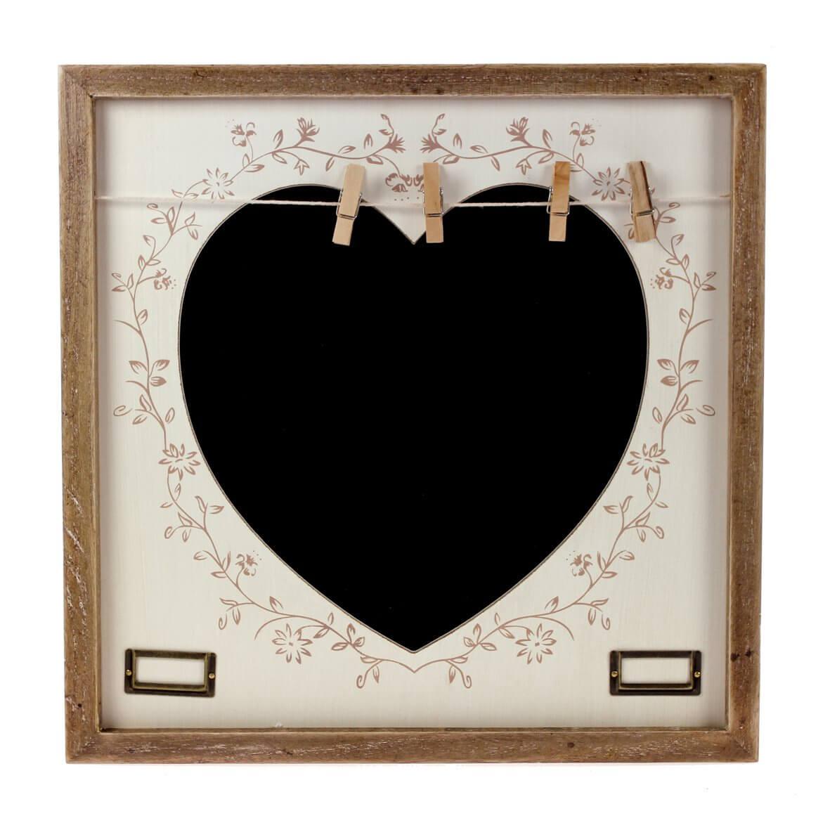 'Filigree Heart' Chalk Board with Pegs