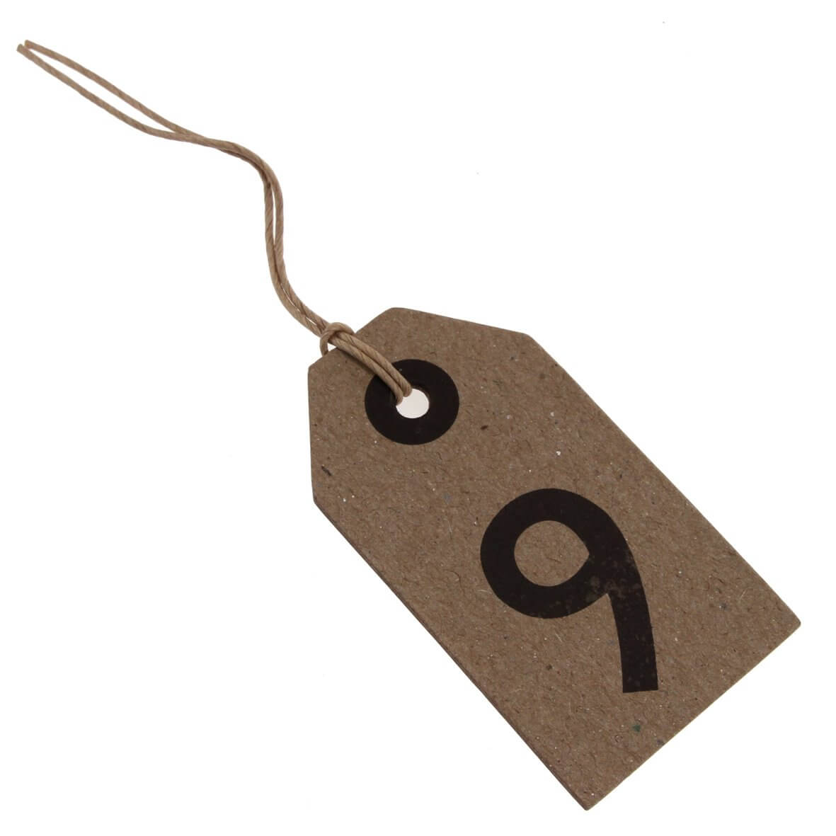 Table Number 9 Tag