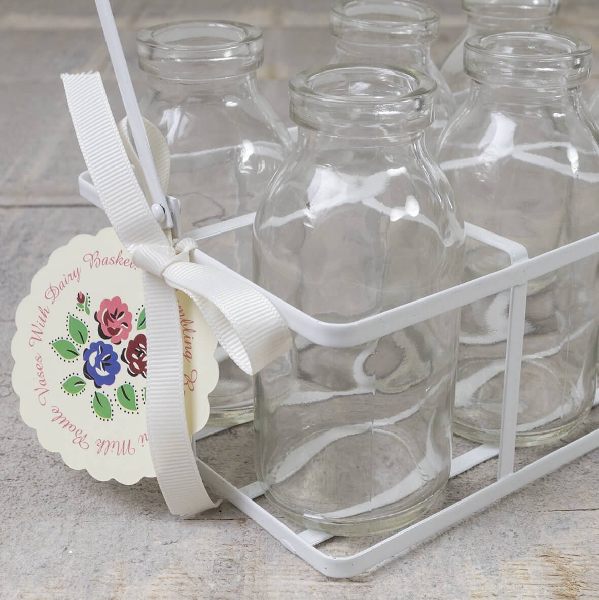 School Milk Bottles in Carry Crate - Detail