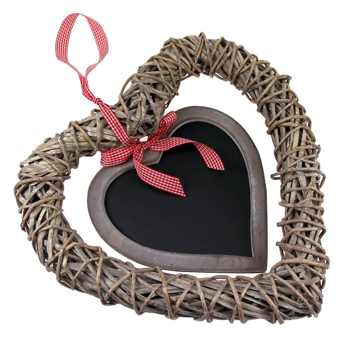 Heart Wreath Hanger with Chalkboard