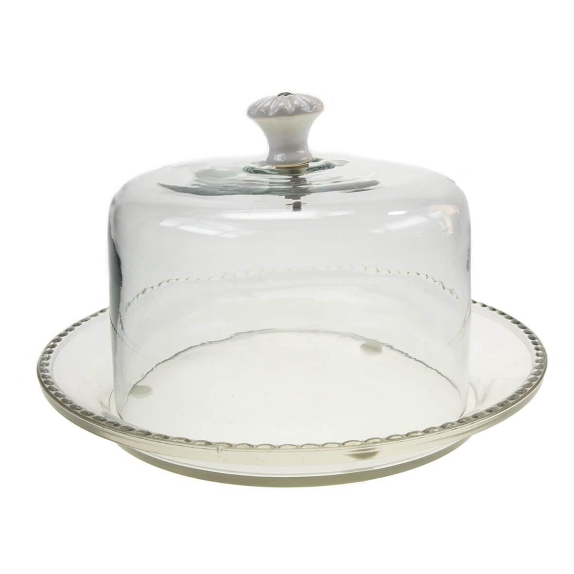 Glass Dome Cake Plate