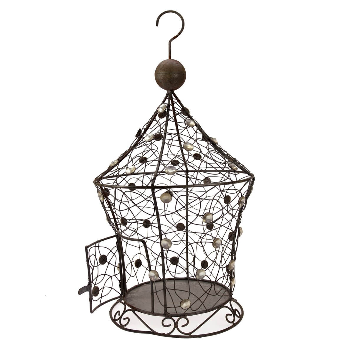 Rustic Birdcage with Pointed Roof