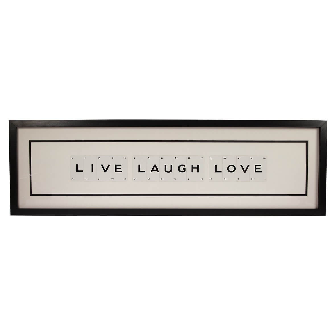 'Live Laugh Love' Vintage Playing Card Frame