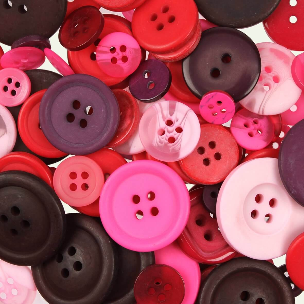 Pink Mix Buttons 100gms