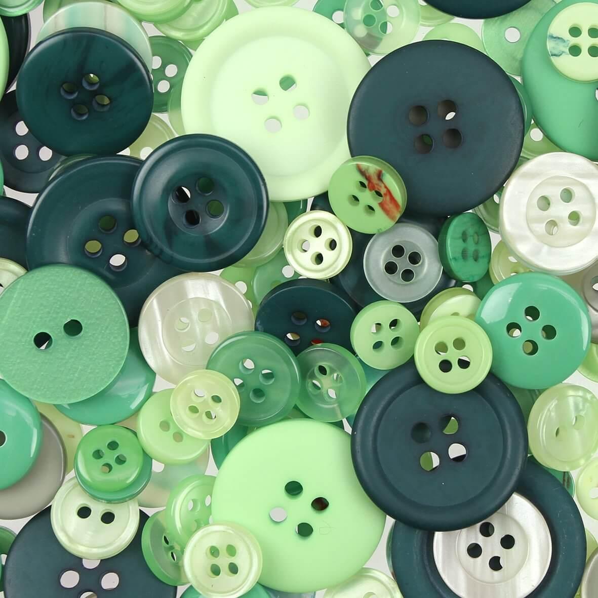 Green Mix Buttons 100gms