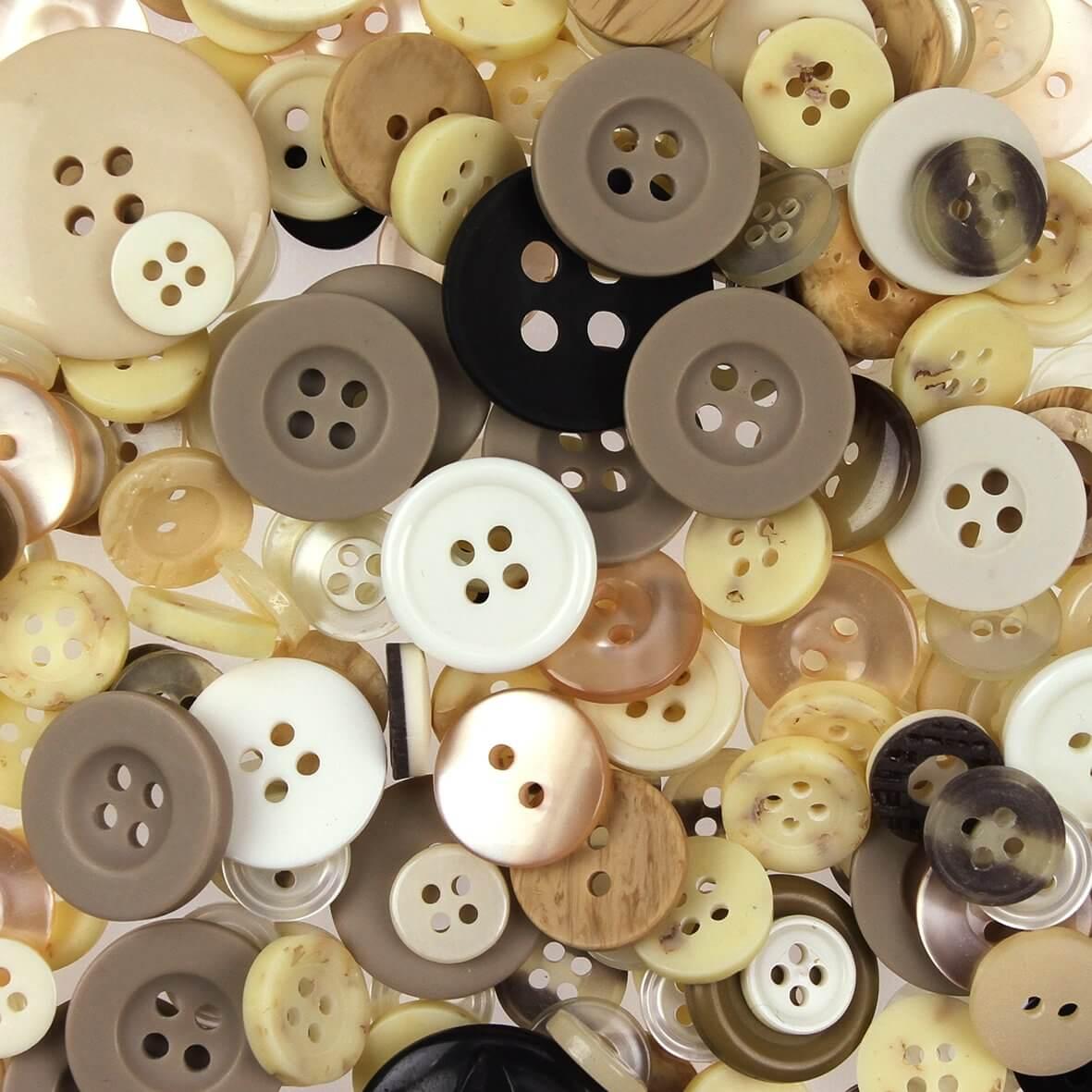 Natural Mix Buttons 100gms
