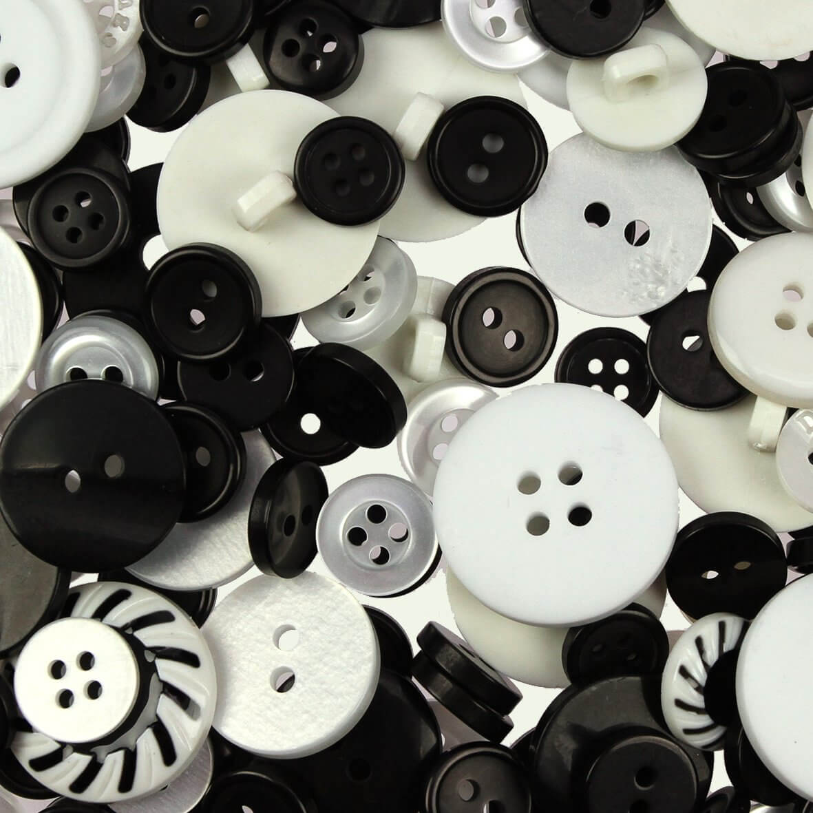 Black & White Mix Buttons 100gms
