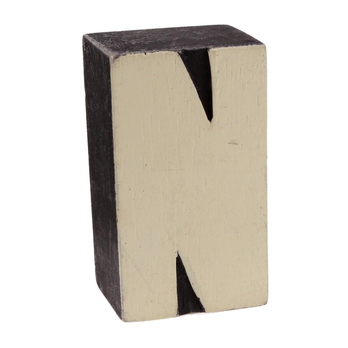 Wood block letter - N