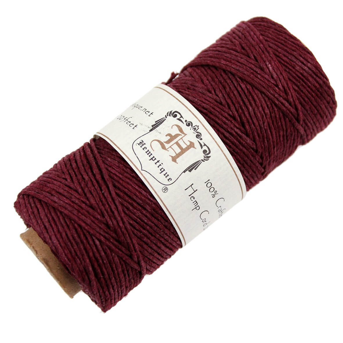Hemptique Hemp Cord - Burgundy