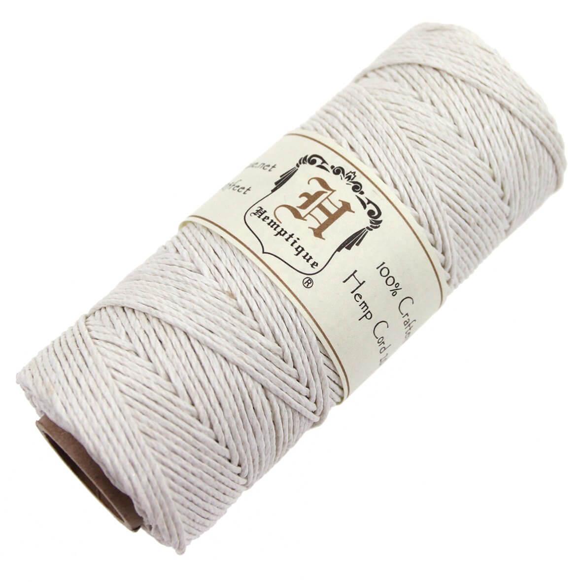 Hemptique Hemp Cord - White