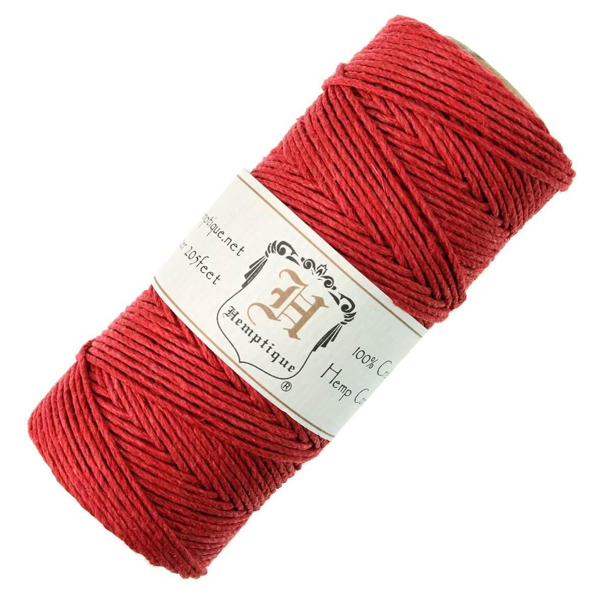 Hemptique Hemp Cord Red