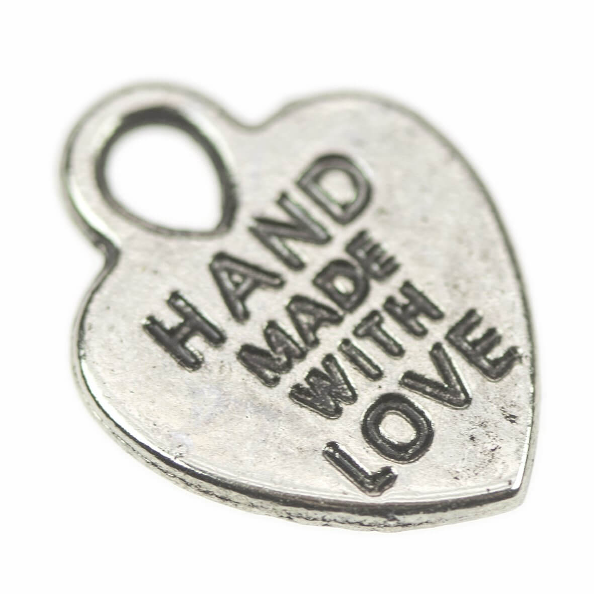 Silver Handmade with Love Charms