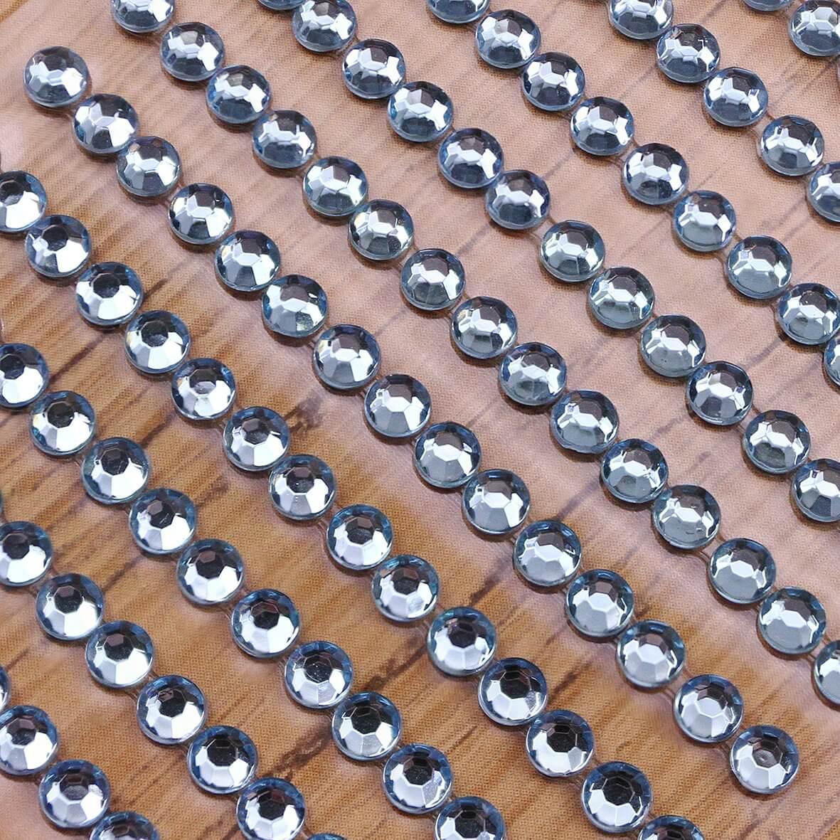 4mm Gem Self Adhesives - Pearl Blue - Zoom