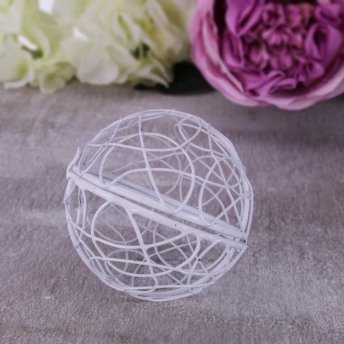 Hinged Wire Ball (White)