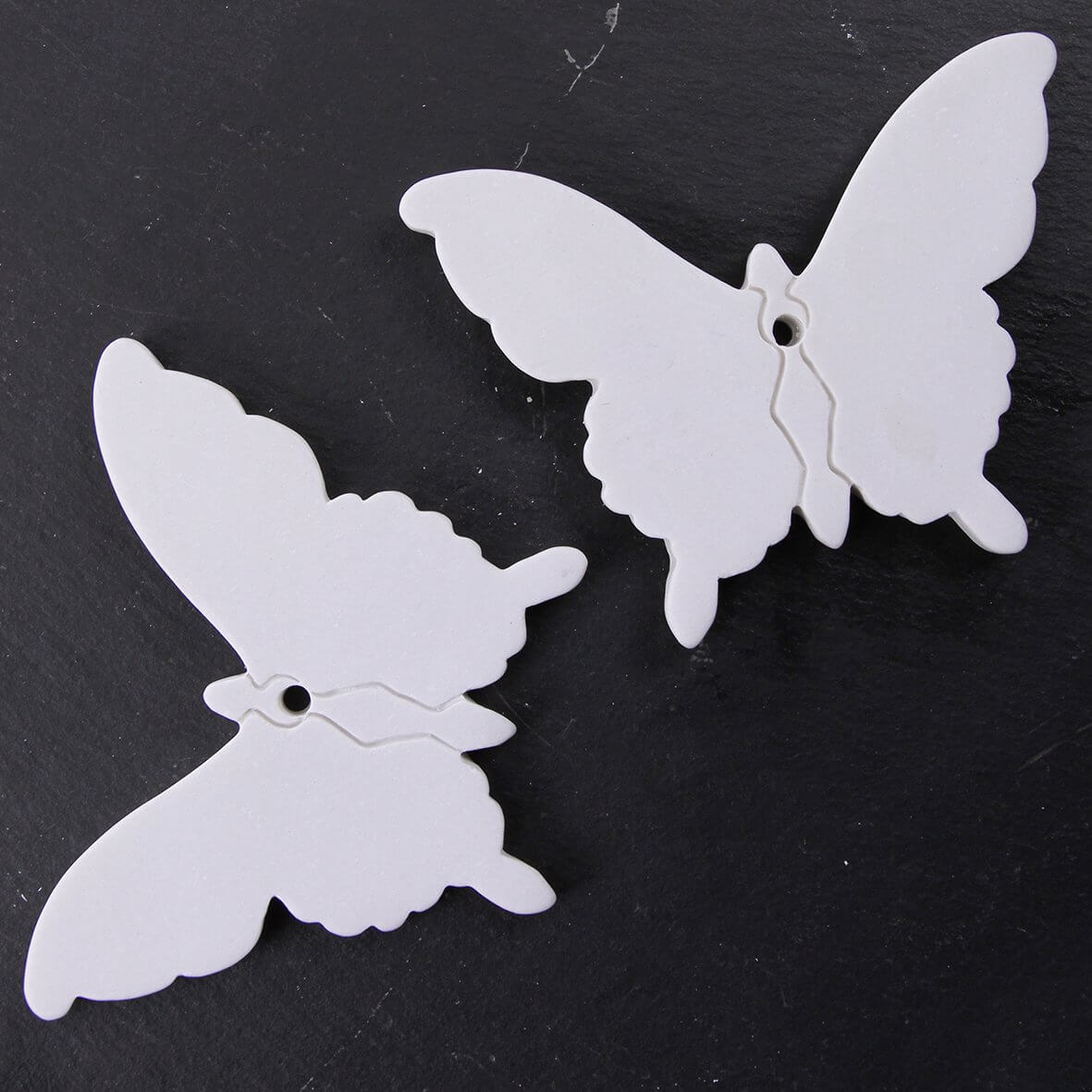 Ceramic Tags (Butterflies Large) - Pack of 2