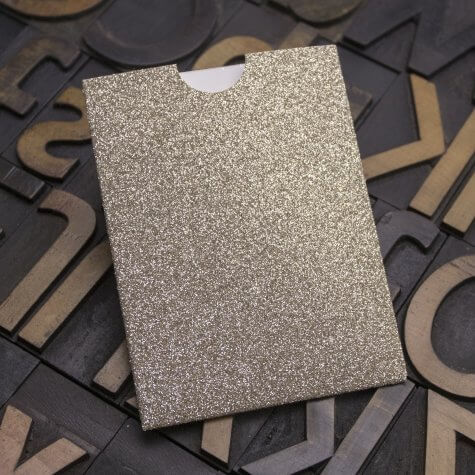 Enfolio Wallet Mini - Champagne Supernova Glitter Card