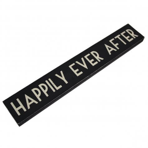 'Happily Ever After' Sign (Black/Cream)