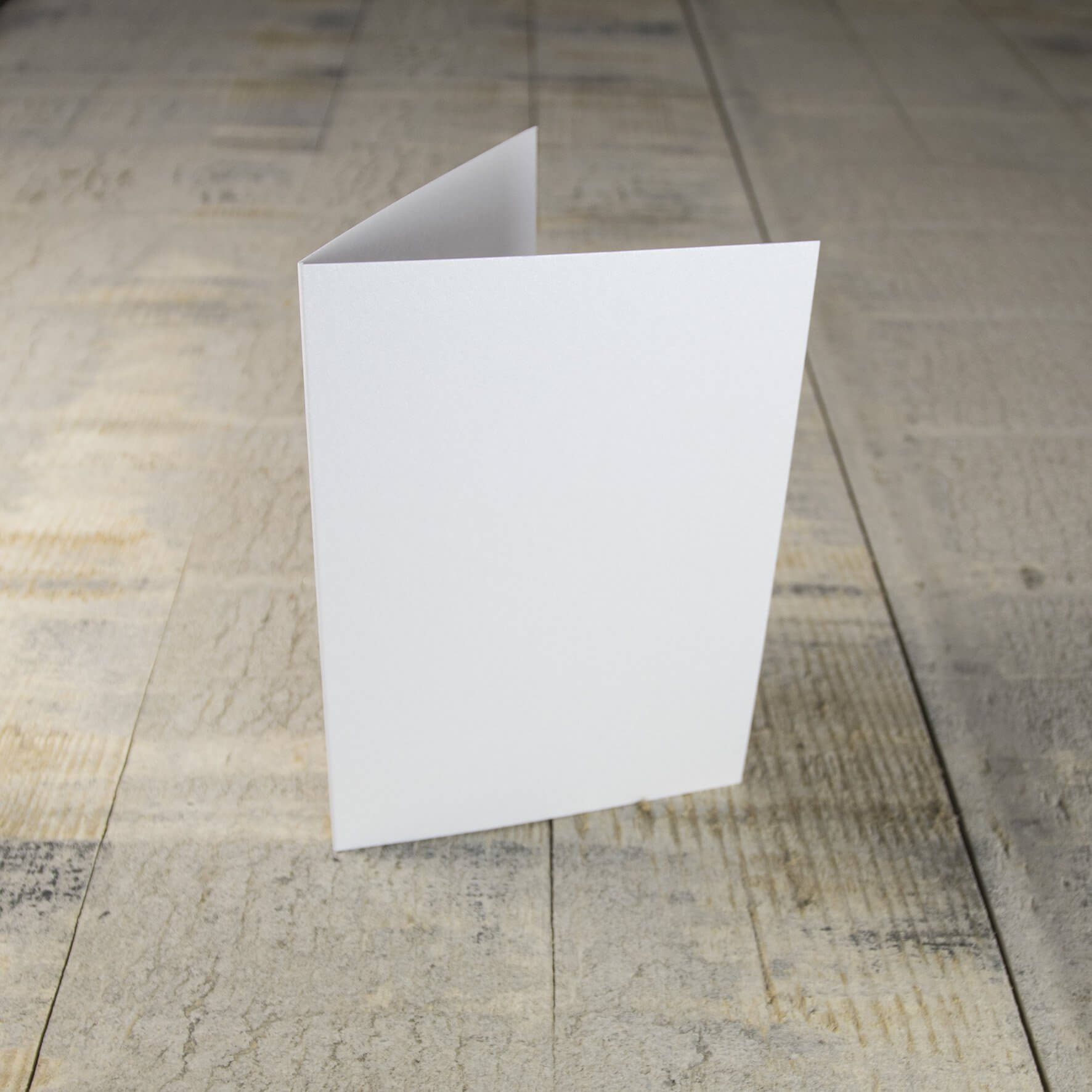 Creased Card C6 - Crystal White