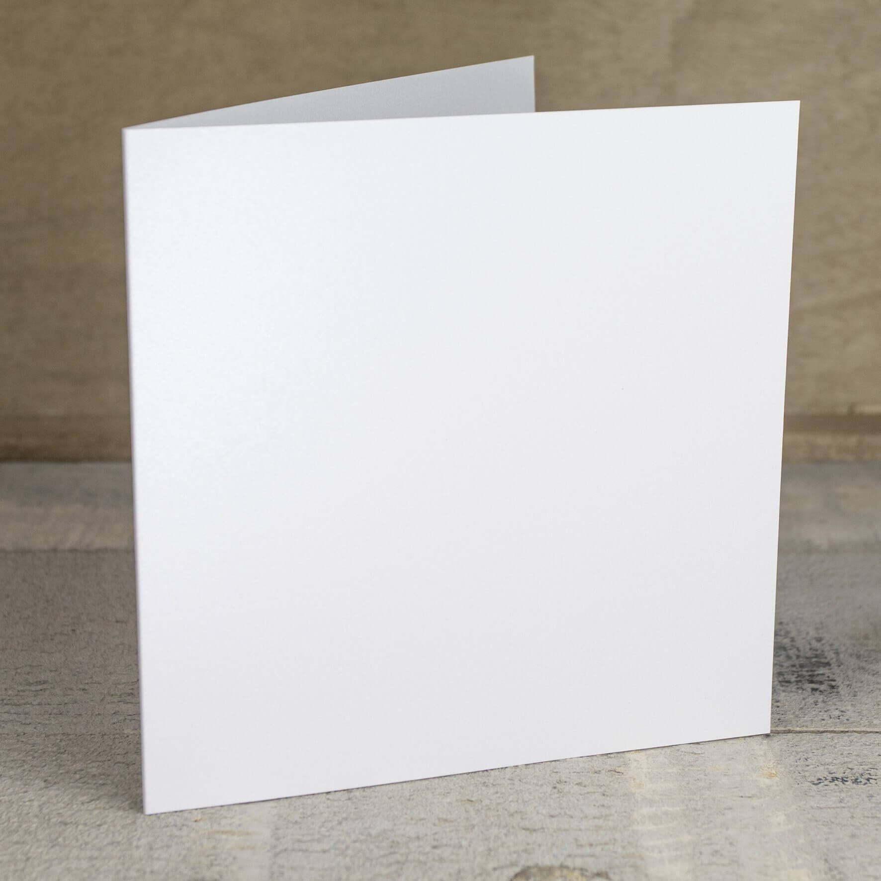 Creased Card Large Square - Crystal White