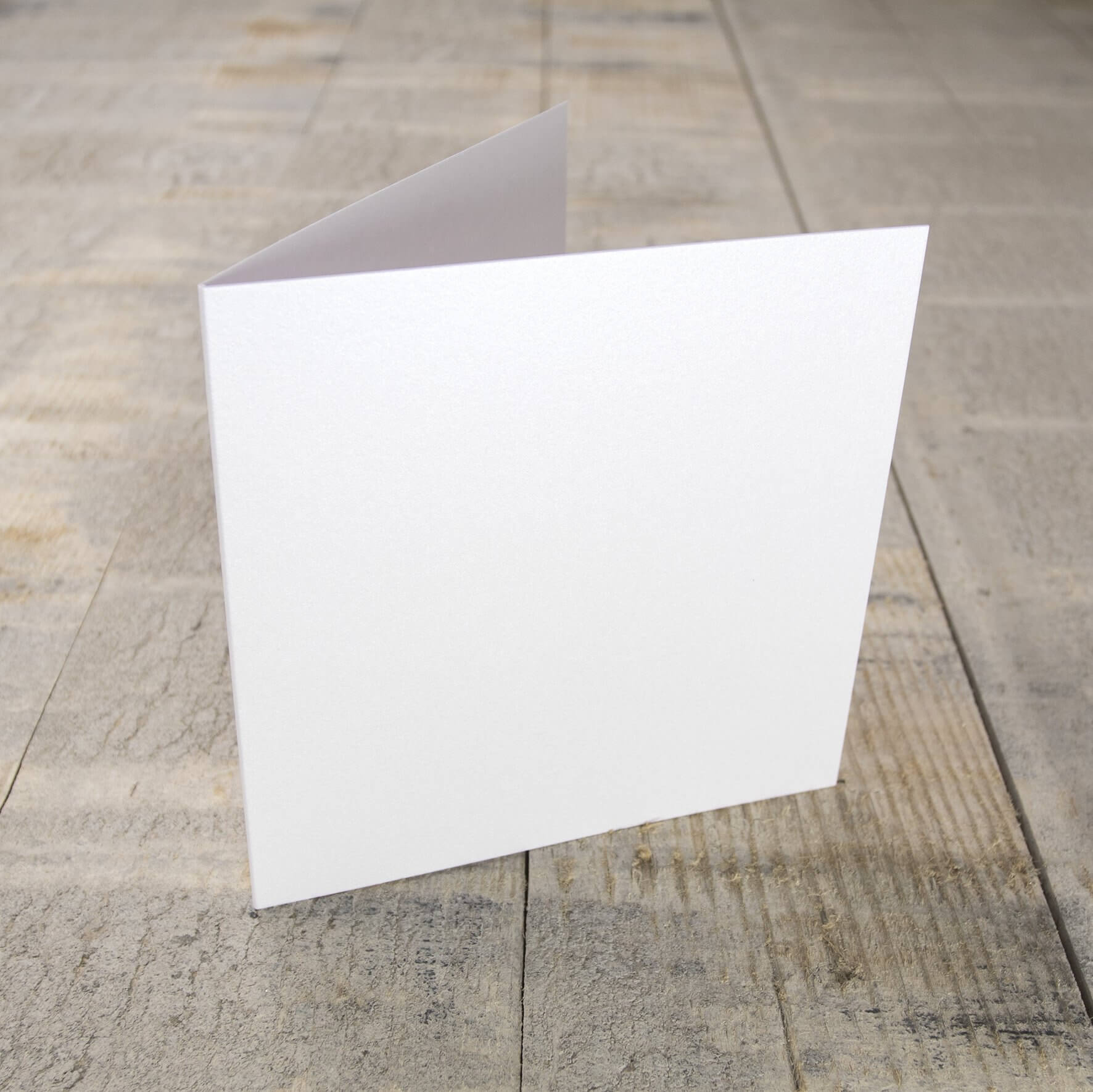 Creased Card Small Square - Crystal White