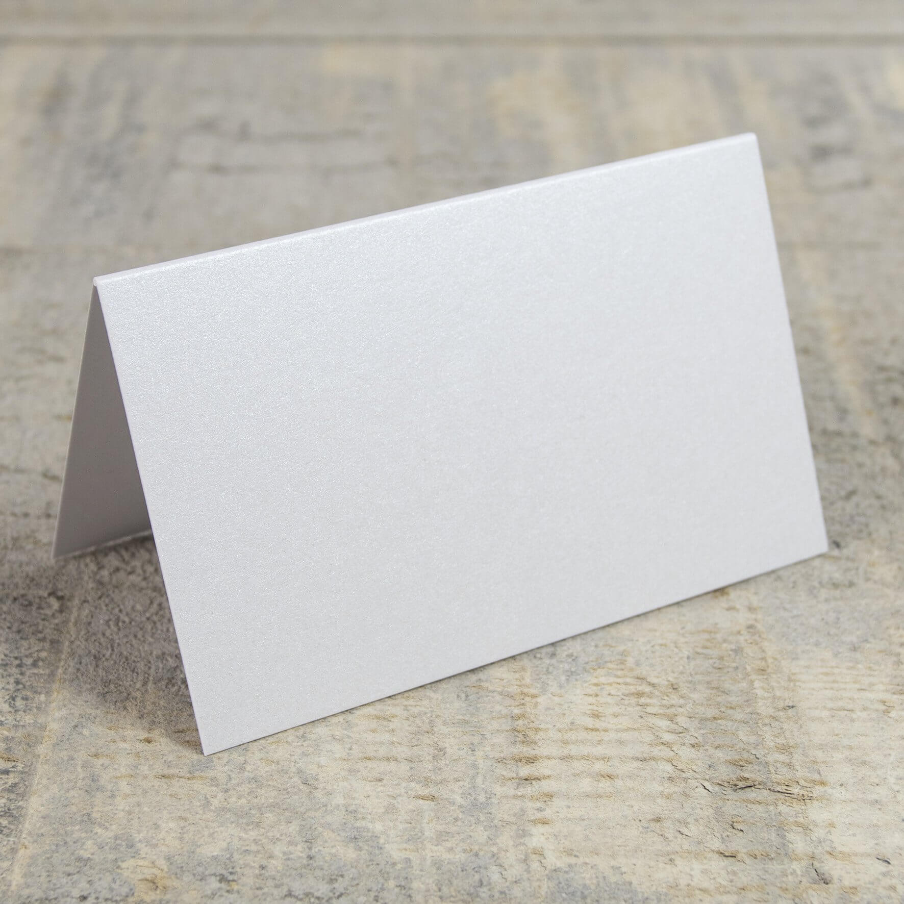 Creased Card Place Card - Crystal White
