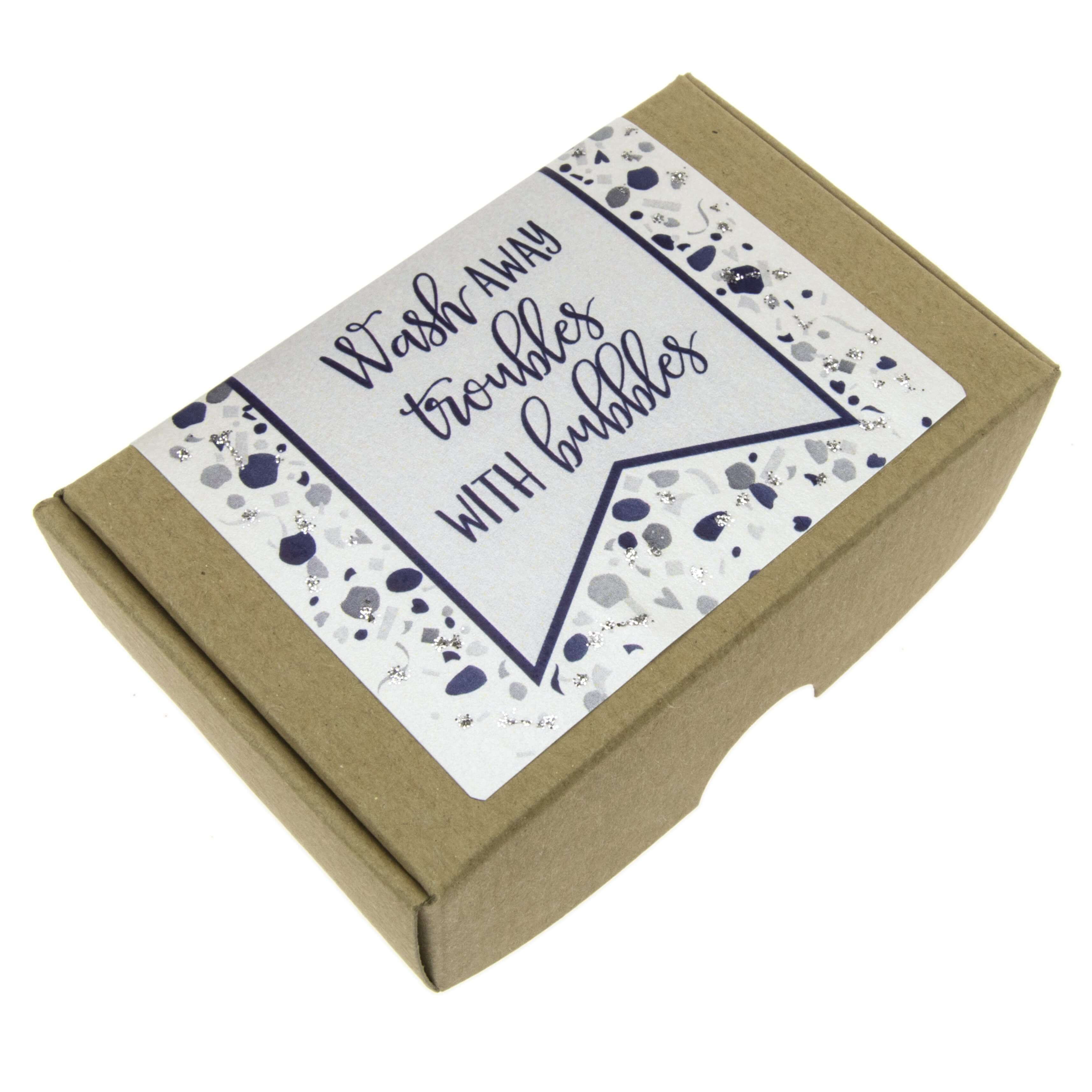 Wash away Troubles with Bubbles Gift Soap