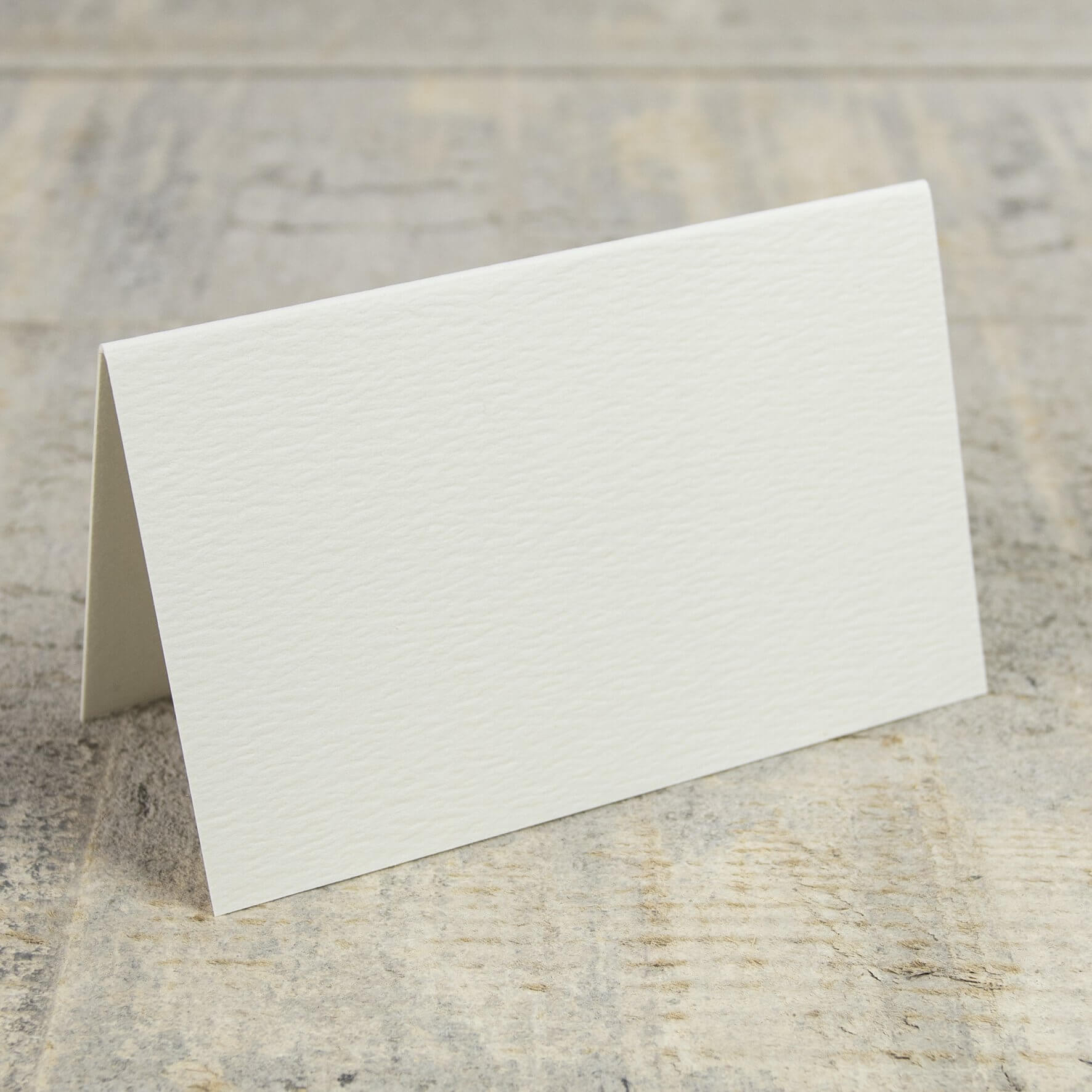 Creased Card Place Card - Antique Ivory