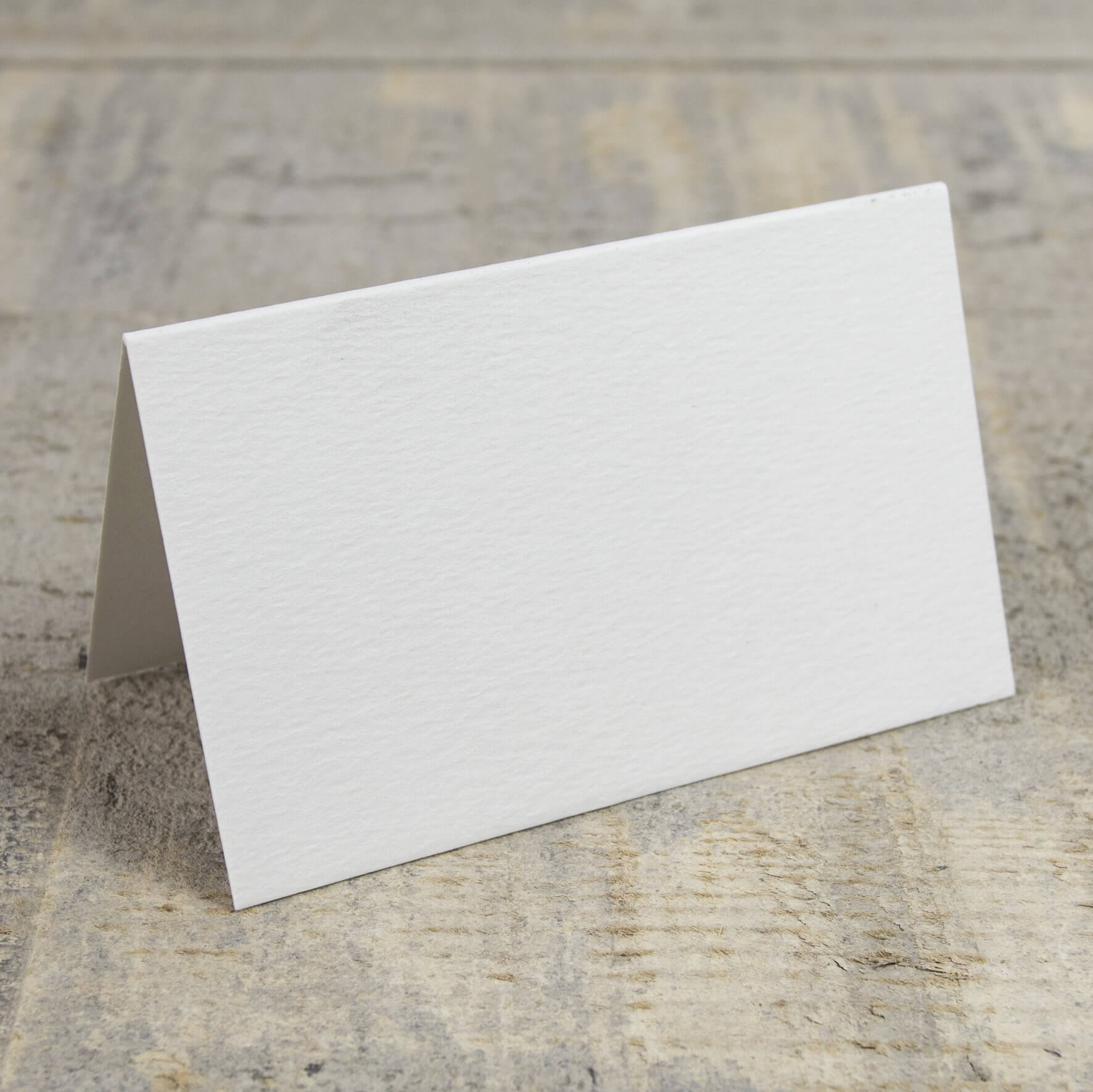 Creased Card Place Card - Antique White