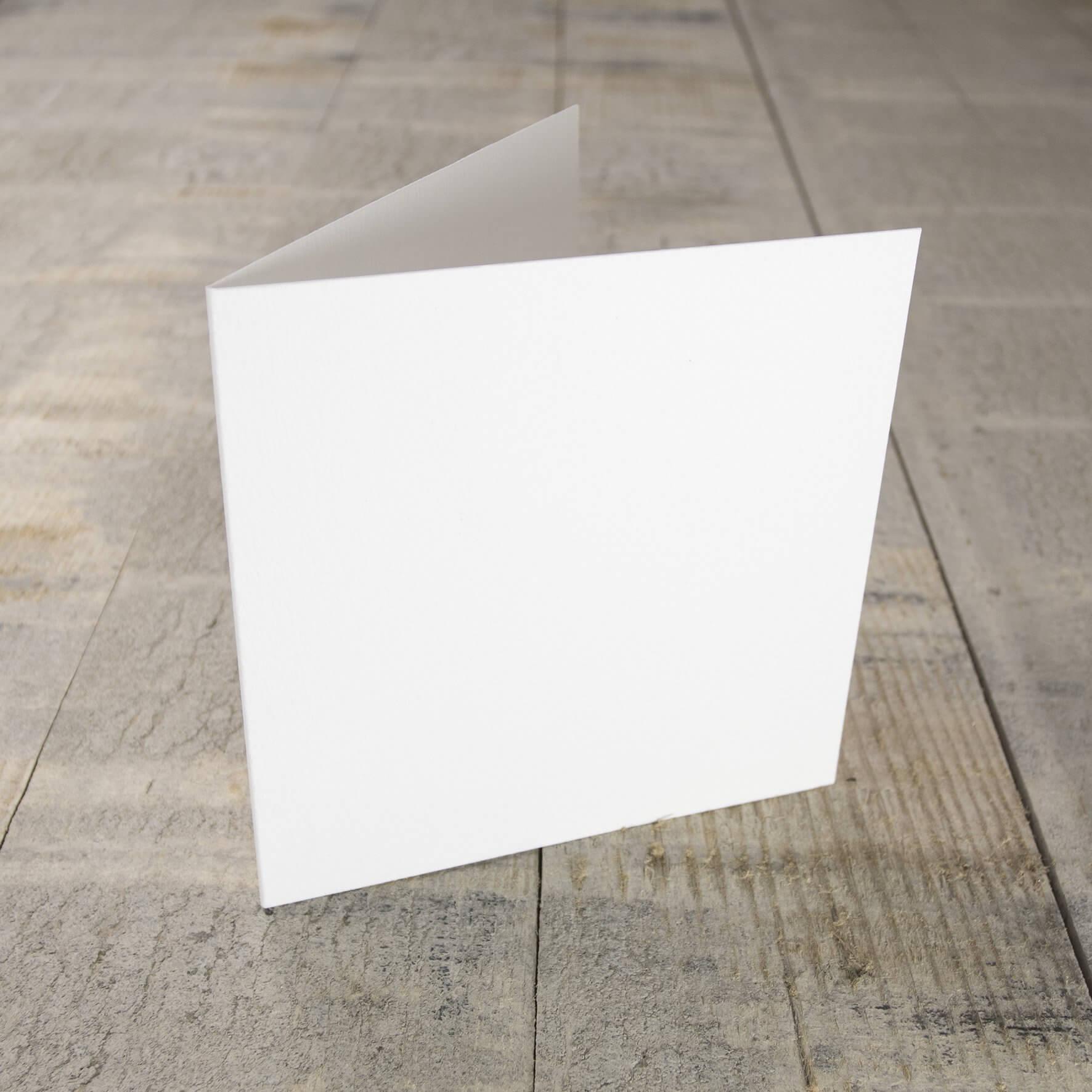 Creased Card Small Square - Antique White