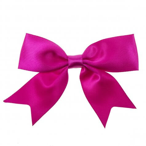 Single Ribbon Bows 25mm - Cerise