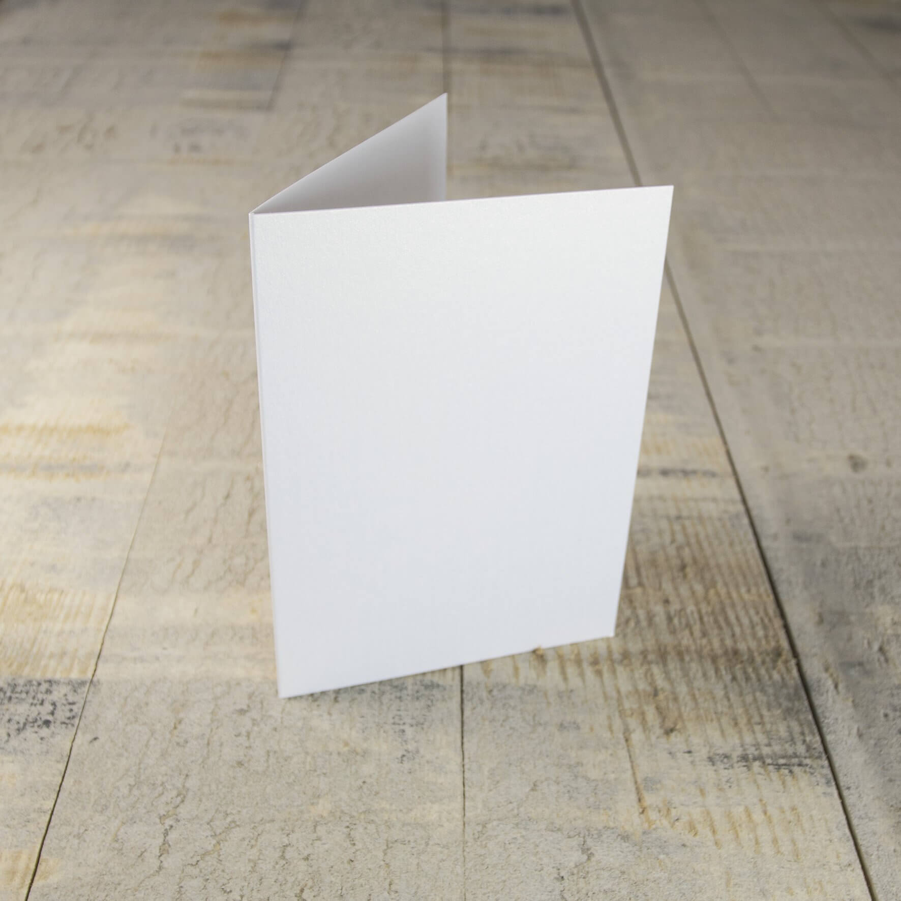 Creased Card C6 - White Lustre