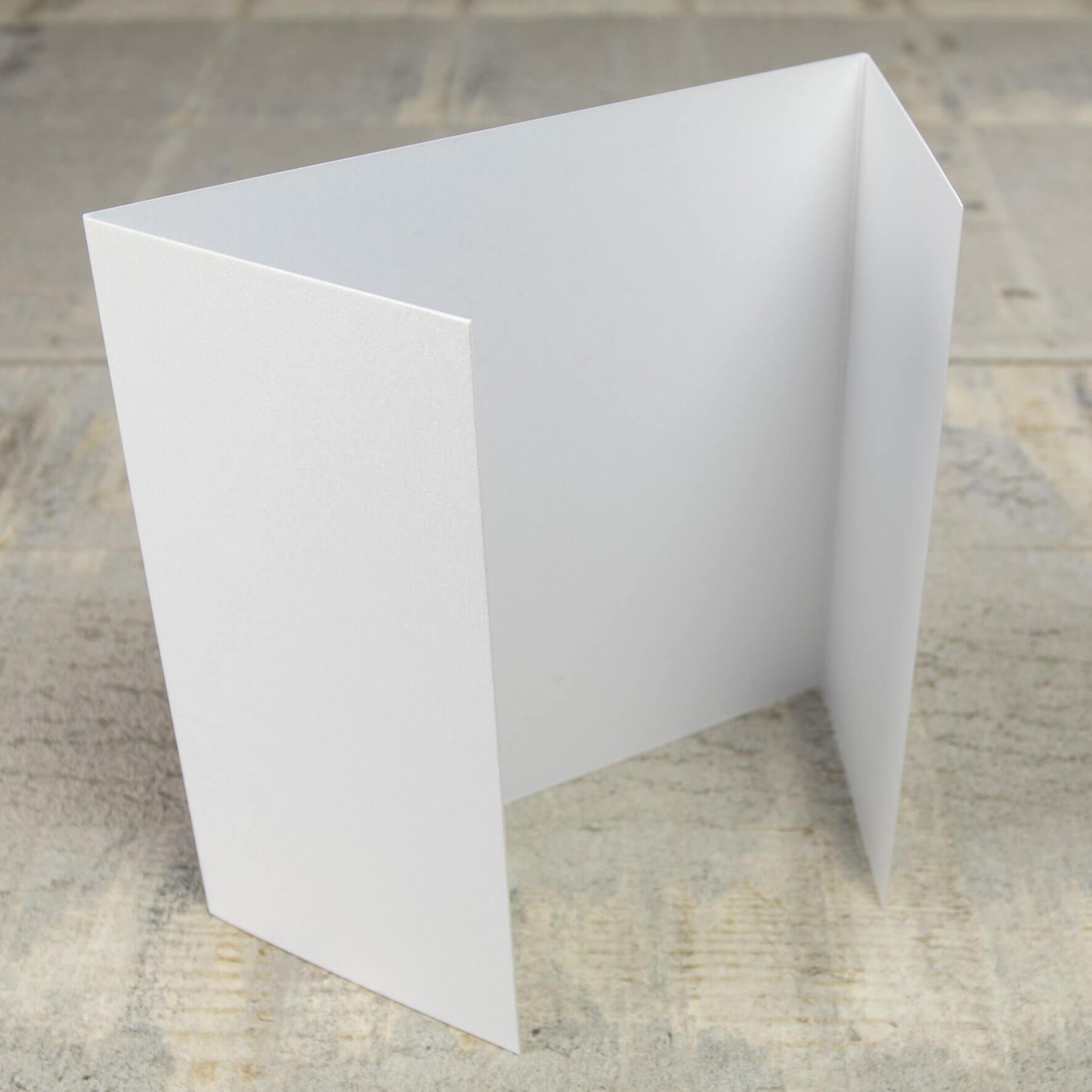 Creased Card Gatefold (Lg Sq) - White Lustre