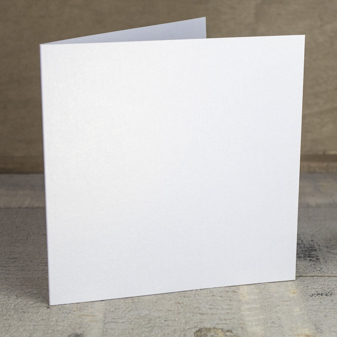 Creased Card Large Square - White Lustre