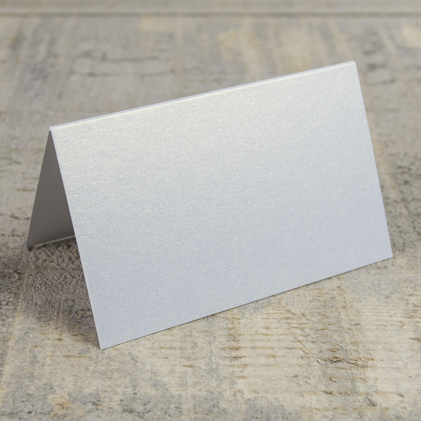 Creased Card Place Card - White Lustre