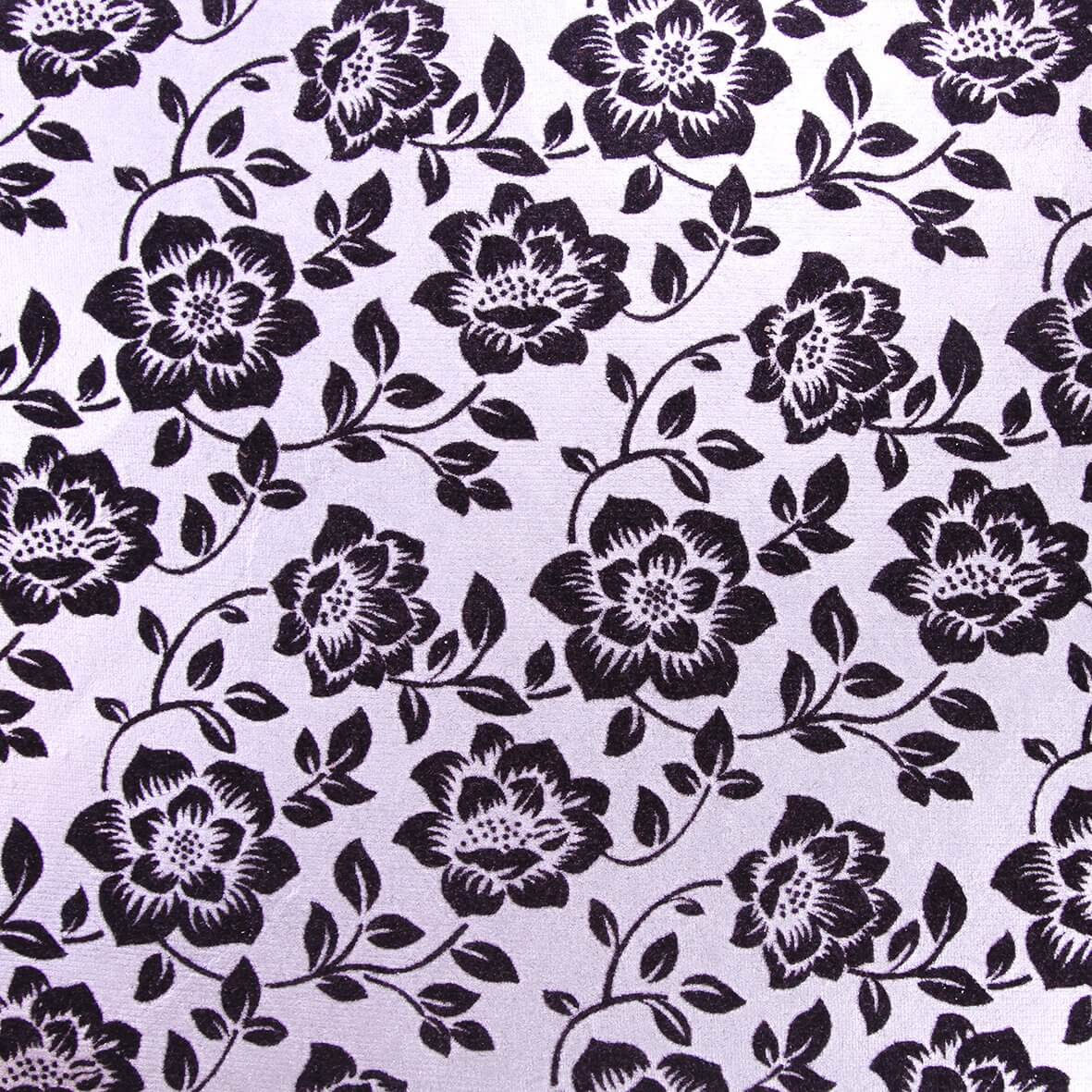 The Adlington (Black on Silver) A4 Flocked Paper