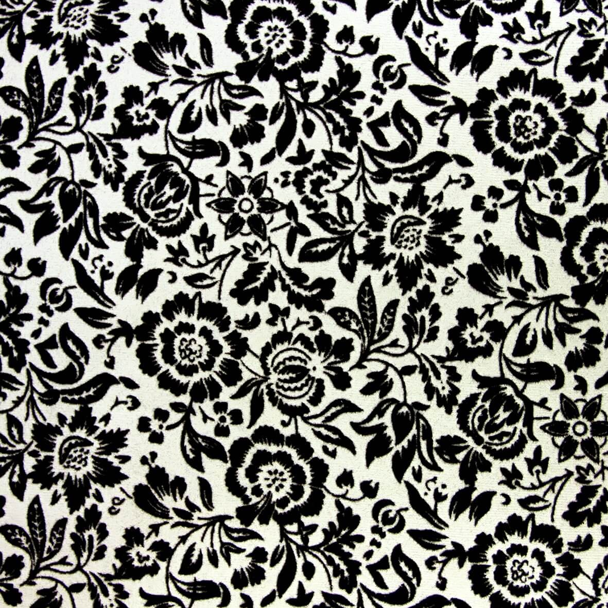The Eastnor (Black on Ivory) A4 Flocked Paper.