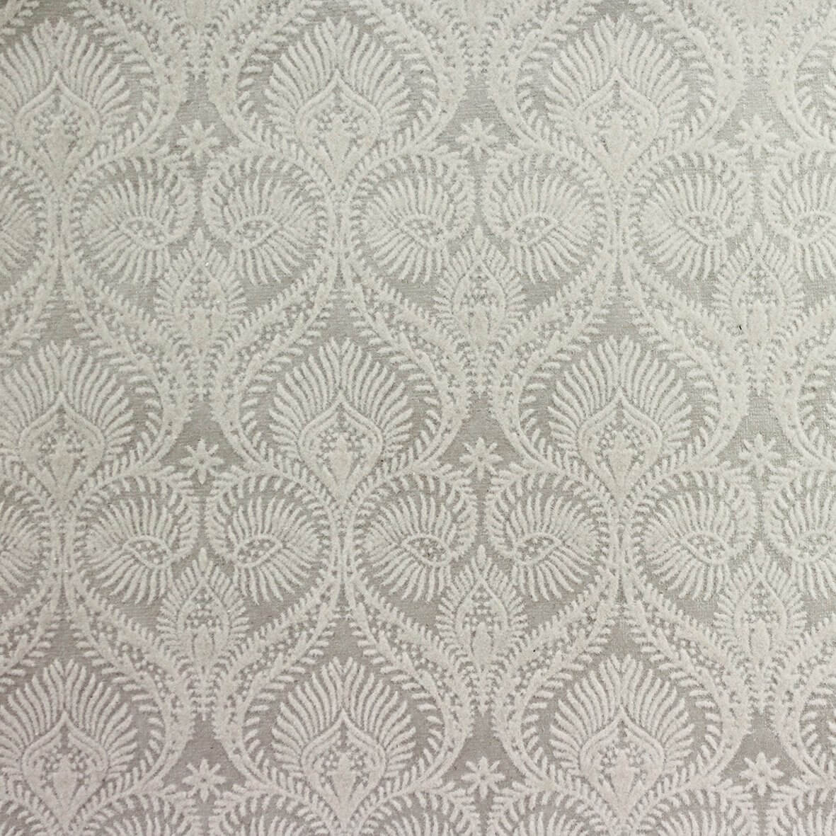 The Woburn (Ivory on Ivory) A4 Flocked Paper.