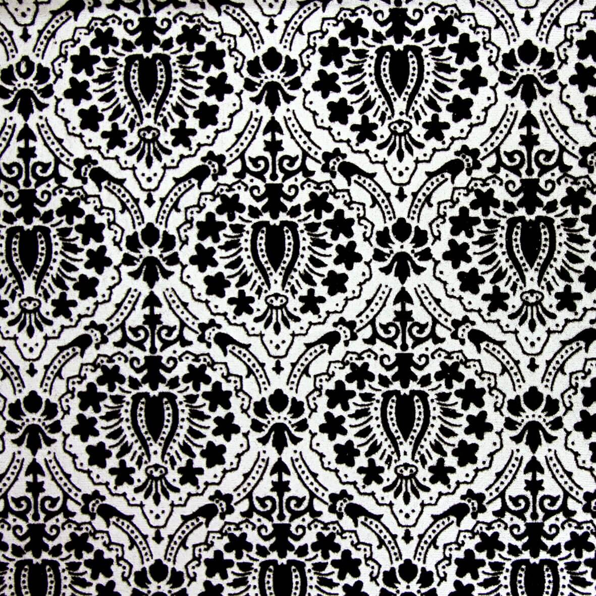 The Little Moreton (Black on Ivory) A4 Flocked Paper.