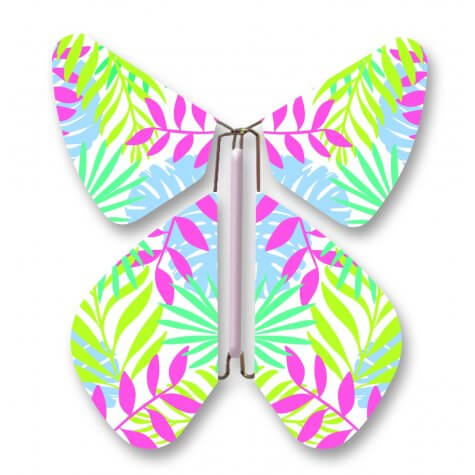 Light Tropical Patterned Magic Flyer Butterfly