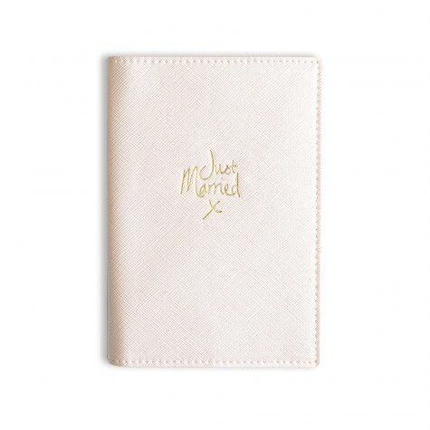 Katie Loxton - Passport Cover - Just Married - Pearly White