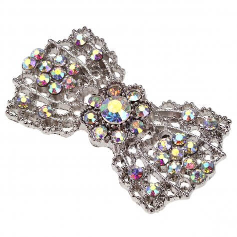 Crystal AB Vintage Bow Brooch