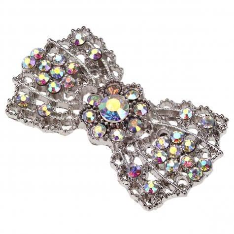 Crystal AB Vintage Bow Brooch